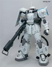 1:100 MG Gundam 20cm White Wolf Captain Gundam really special white whole Zaku II movable fingers 019 Free shipping