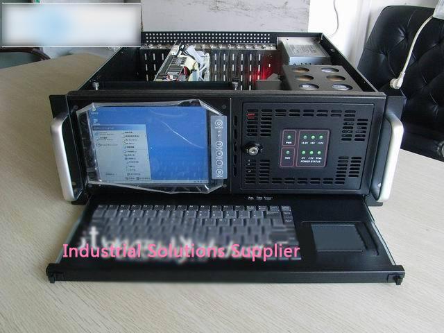 Industrial computer case frame 4u industrial computer belt 8 screen keyboard industrial machine server work station(China (Mainland))