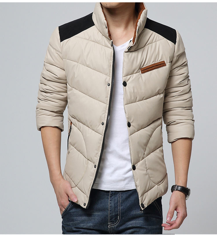 down parka trend face winter jacket men fashion warm cold out snow parka men's down jacket coat canada 2015 Hot cotton clothing(China (Mainland))