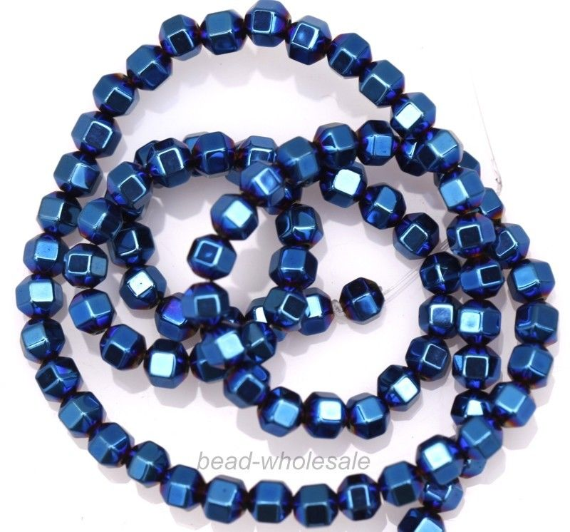 A Strand (about 100pcs) Colorful Hematite Spacer Beads Faceted Bead 4mm(China (Mainland))