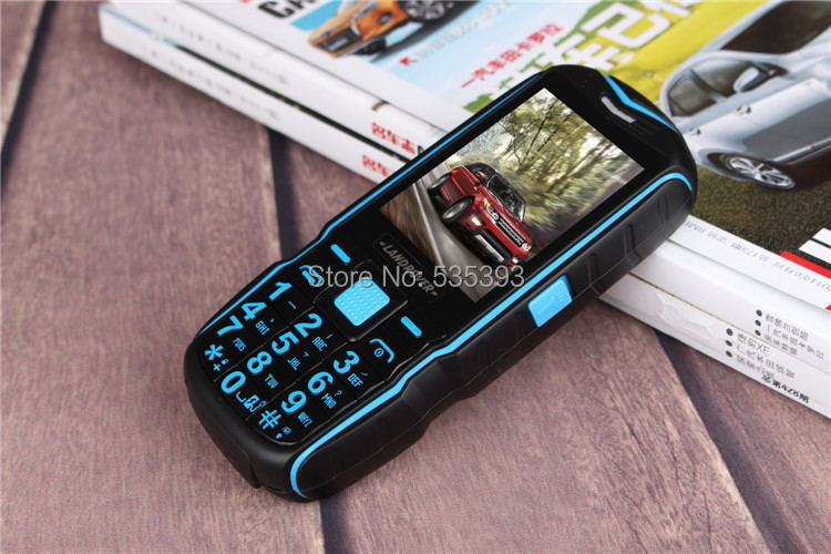 original Unlocked Senior elder old man cell phone Rugged waterproof phone Big Battery speaker 2 dual SIM Russian Arabic Keyboard(China (Mainland))