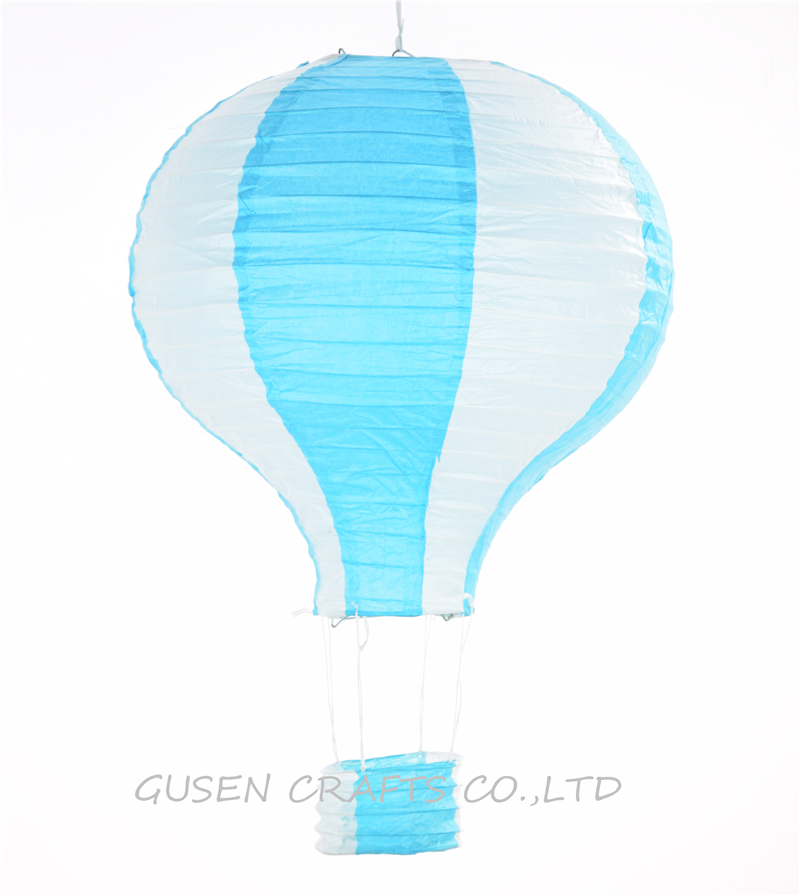3Pcs/lot 12inch Rainbow Hot Air Balloon blue Paper Lantern Fire Sky Lantern for Wedding/Birthday Party/Christmas Decoration(China (Mainland))