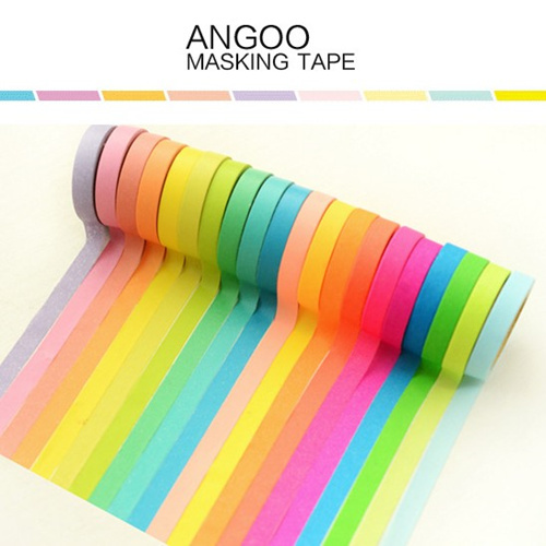 10 color/set Angoo Masking tape Rainbow color decorative adhesive tape paper tapes zakka scrapbooking school supplies 6406<br><br>Aliexpress