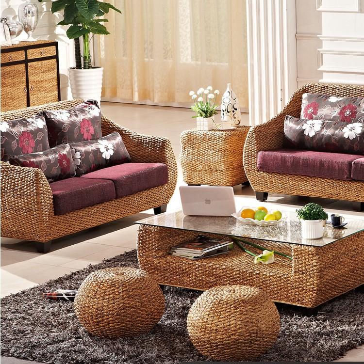 Fashion leisure wicker rattan outdoor sofa furniture in rattan wicker sofas - Muebles de mimbre ...