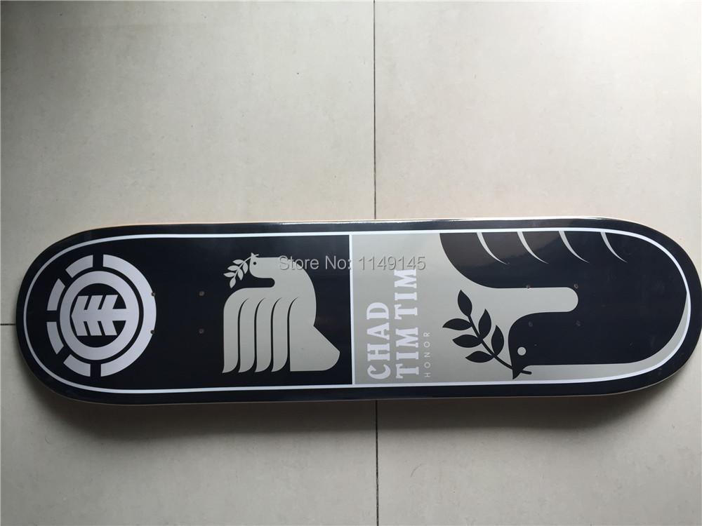 "2015 ELEMENT Canadian Maple Skateboard Deck 8"" Skateboard Shape Maple Black & Grey Pattern Skate Deck Patins Street(China (Mainland))"