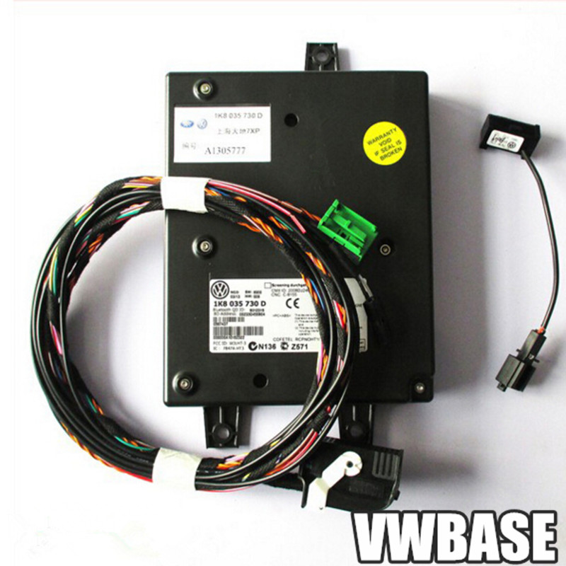 Genuine Bluetooth Module 9w2 with Cable Harness Fit RCD510 Rcd 510 Jetta Touran 1K8 035 730 D 1K8035730D(China (Mainland))
