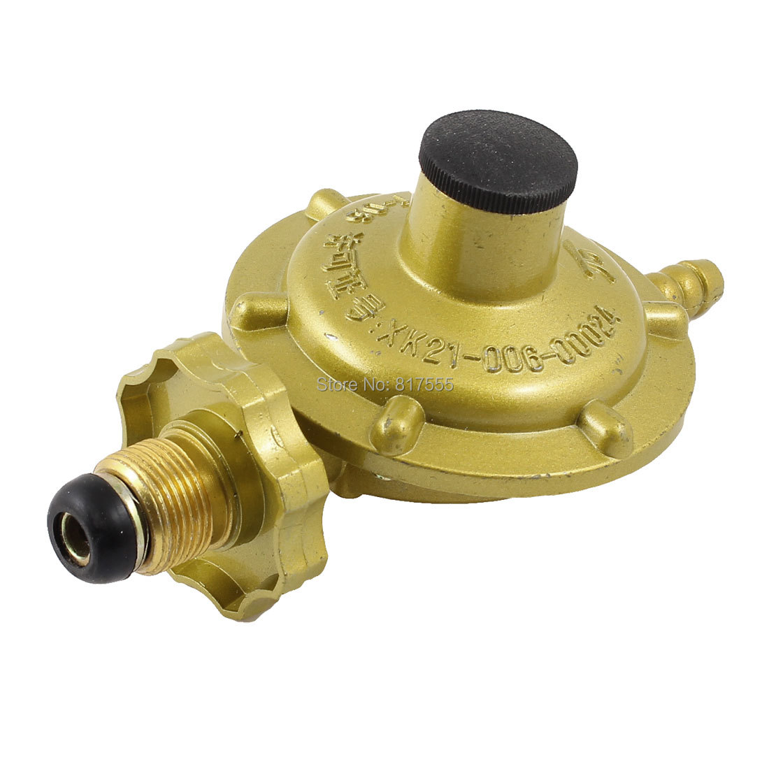 0.03 - 1.56Mpa Home One Inlet One Outlet Liquefied LGP Compressed Gas Pressure Regulator Yellow Gauge 21.6mm Diameter 10mm(China (Mainland))