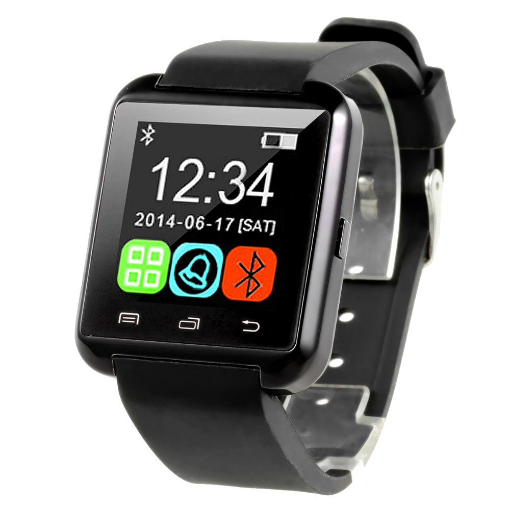 The new multi-functional intelligent fashion BT999 android IOS mobile phone bluetooth watch sports wear watches - black(China (Mainland))