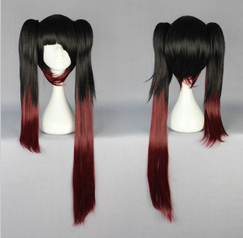 Long Straight Color Mixed  Anime Cosplay Wig