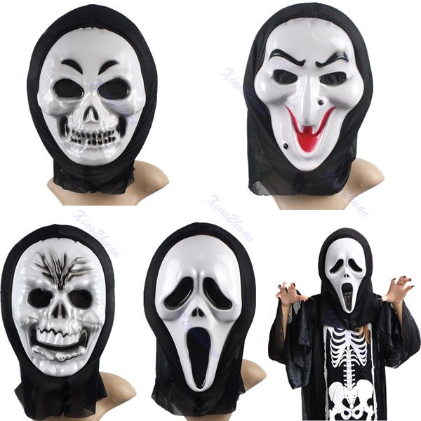 G104Free Shipping Witch Skeleton Scream Scared Face Mask For Costume Party Halloween Carnival(China (Mainland))