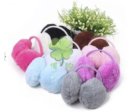 500pcs/lot wholesales lowest price  colorful Earmuffs fashion women girls Earwarmers Ear Muffs Earlap Warm  autumn WinterÎäåæäà è àêñåññóàðû<br><br>