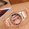 Watches Women Fashion Luxury Brand Ladies Gold Steel Quartz Watch Geneva Casual Crystal Rhinestone Wristwatches Relogio