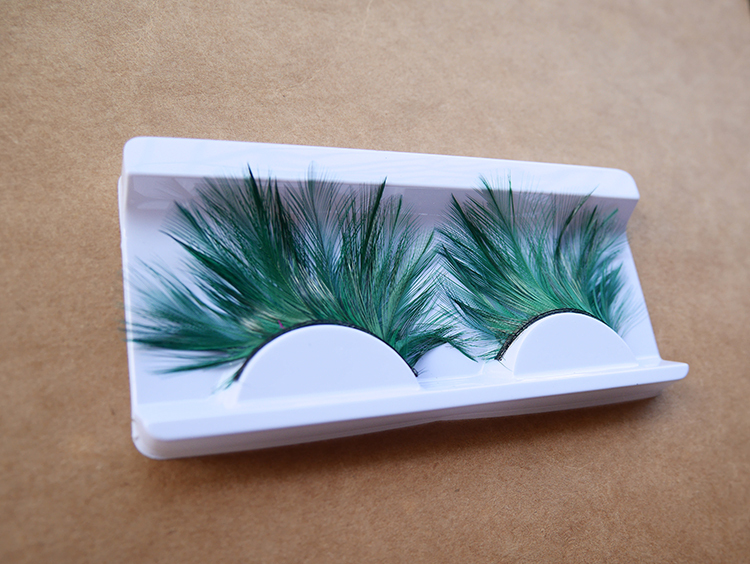 Green False eyelash photo shoot, make model, stage performances purpose excellent makeup tool - jessie king's store
