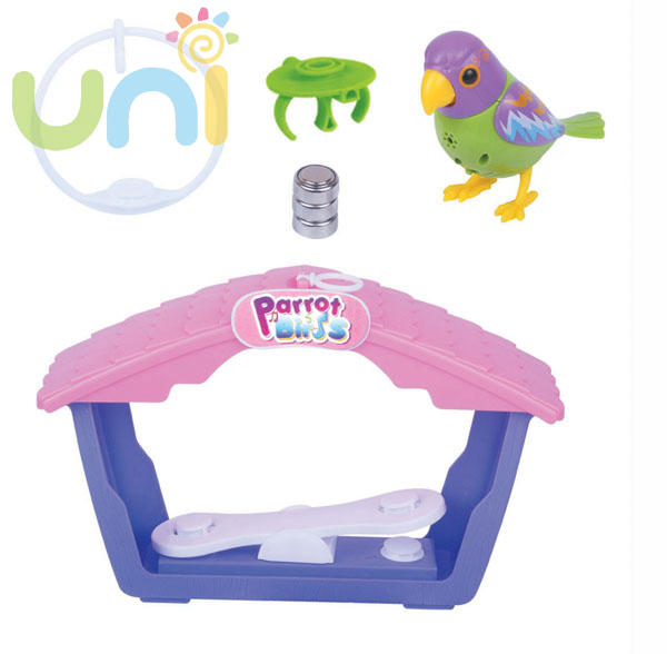 Electronic Toys Birds Pets Singing Choir Intelligent music Bird to Collect Baby kids Cheap Toy Talking Parrot Xmas Gifts 404811W(China (Mainland))