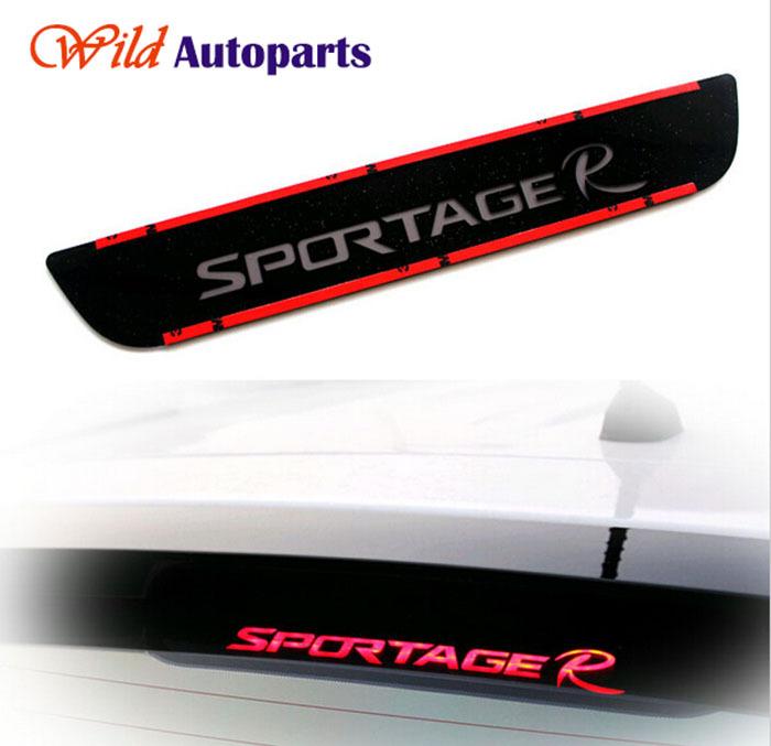 Acrylic Black Rear Roof Brake Light Stop Lamp Sticker Decal Vinyl for KIA Sportage R(China (Mainland))