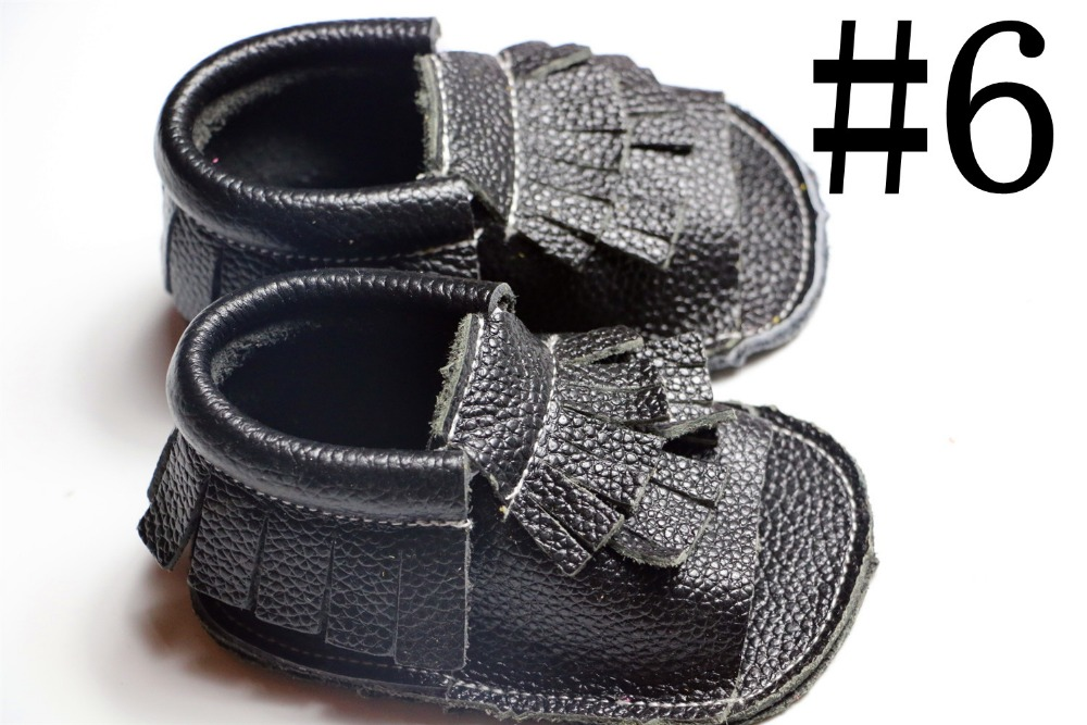 10 pairs/lot 2016 Black spring Genuine cow Leather baby boys girls shoes First Walkers Toddler baby moccasins for new born baby<br><br>Aliexpress