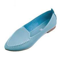 Women Flats 2016 Summer Style Casual Solid Pointed Toe Slip-On Flat Shoes Soft Comfortable Shoes Woman Plus Size 35-40 XWC267(China (Mainland))
