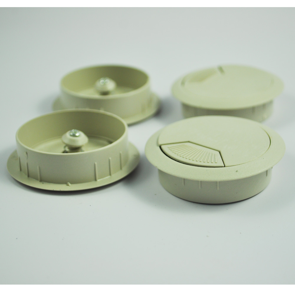 """CAA-New Practical Superior Desk Plastic Flip Top 2"""" Cable Hole Cover Grommet 4 Pcs(China (Mainland))"""