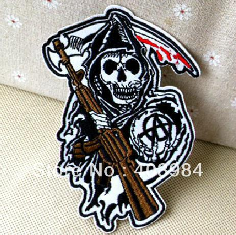 ~10 pcs/Lot Embroidered skull Iron Sew Patch Applique Badge - Mackie Wong's store