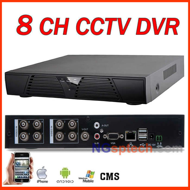 Newest, 8CH Cloud DVR with Net function easy setting, Remote View via Internet, Motion detector, H.264 DVR, Cloud technology