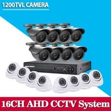 Buy 16 Channel HD 1200TVL Outdoor video Surveillance security Camera system DVR Recorder 16ch CCTV dvr kit home surveillance set for $397.37 in AliExpress store