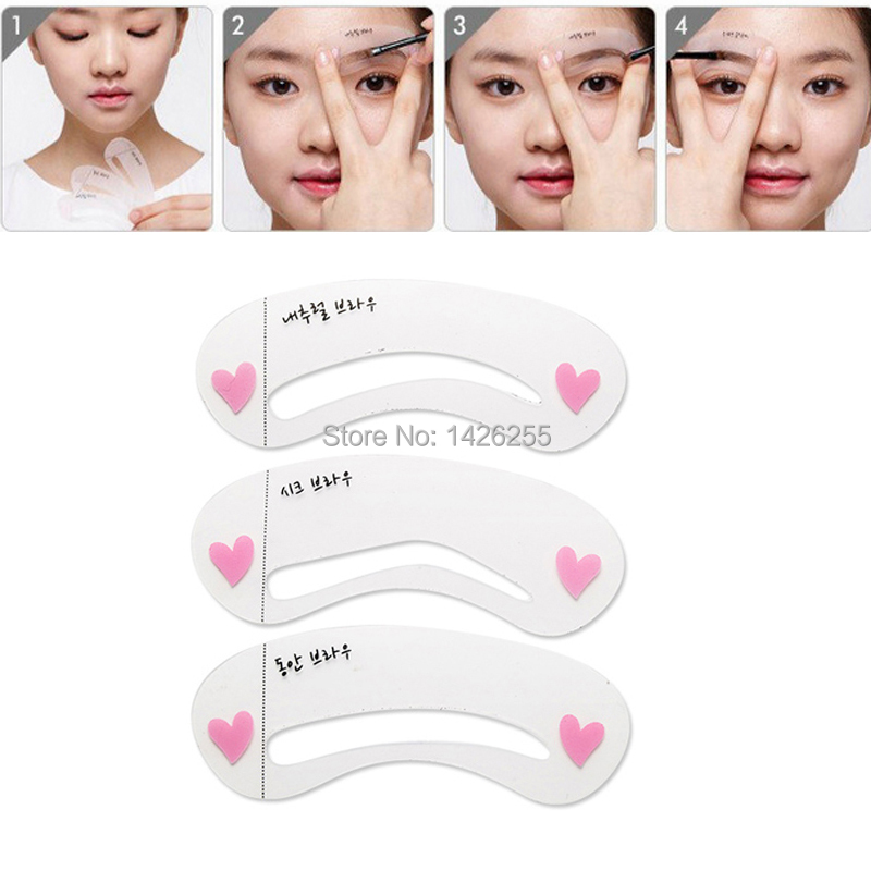 Wholesale Of Exquisite Eyebrow Stencil Grooming Shaping Card Kit