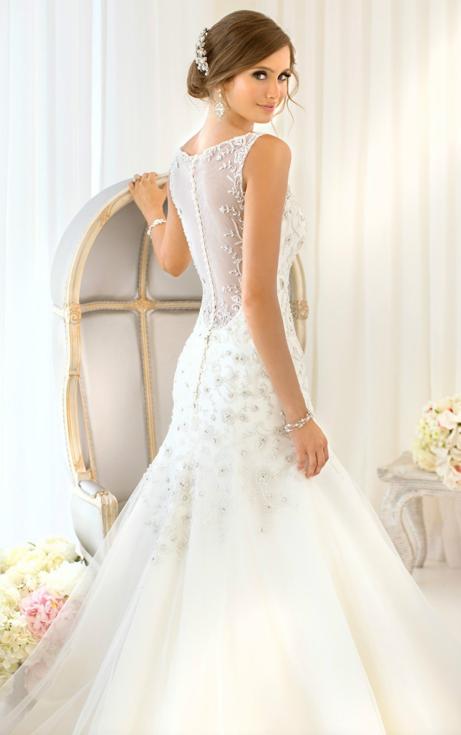 This designer tulle and royal organza essense of wedding for Tulle and organza wedding dresses
