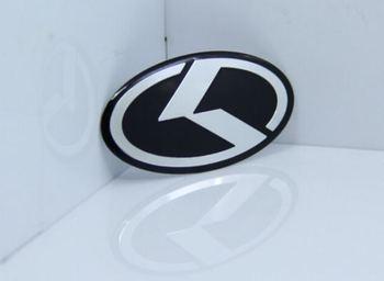 Aluminium Auto car Steering Wheel K LOGO for K5 K7 FORTE Emblem Badge Sticker