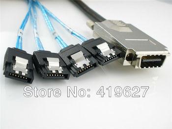 computer components Free Shipping 1M Server hard disk array data lines External Infiniband SAS 4i SFF 8470 34P to 4 SATA 7pin