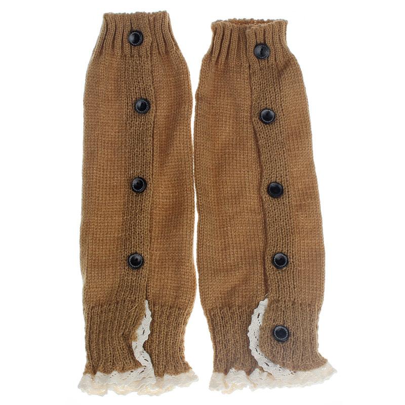 Дети девушка крючком вязаные кружева загрузки манжеты ботворезы теплые носки энн
