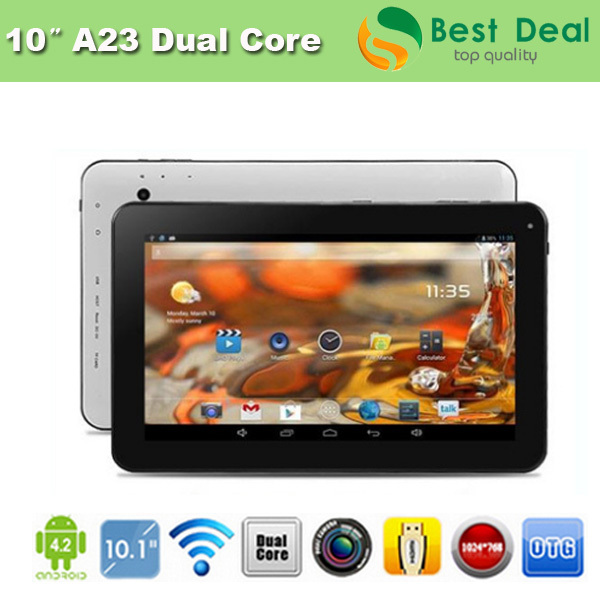 DHL Free Shipping Cheap 10 inch Tablet PC Allwinner A23 Dual Core 512MB/8GB Dual Camera 1024*600 Capacitive Screen(China (Mainland))