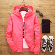 Artı Boyutu 5XL 6XL 7XL 2019 Marka Moda erkek ceket Düz Renk Sonbahar Bahar ceket erkekler rüzgarlık bombacı jaqueta masculina(China)