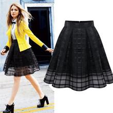 Hot Brand Women Organza Skirts High Waist Zipper Ladies Tulle Skirt