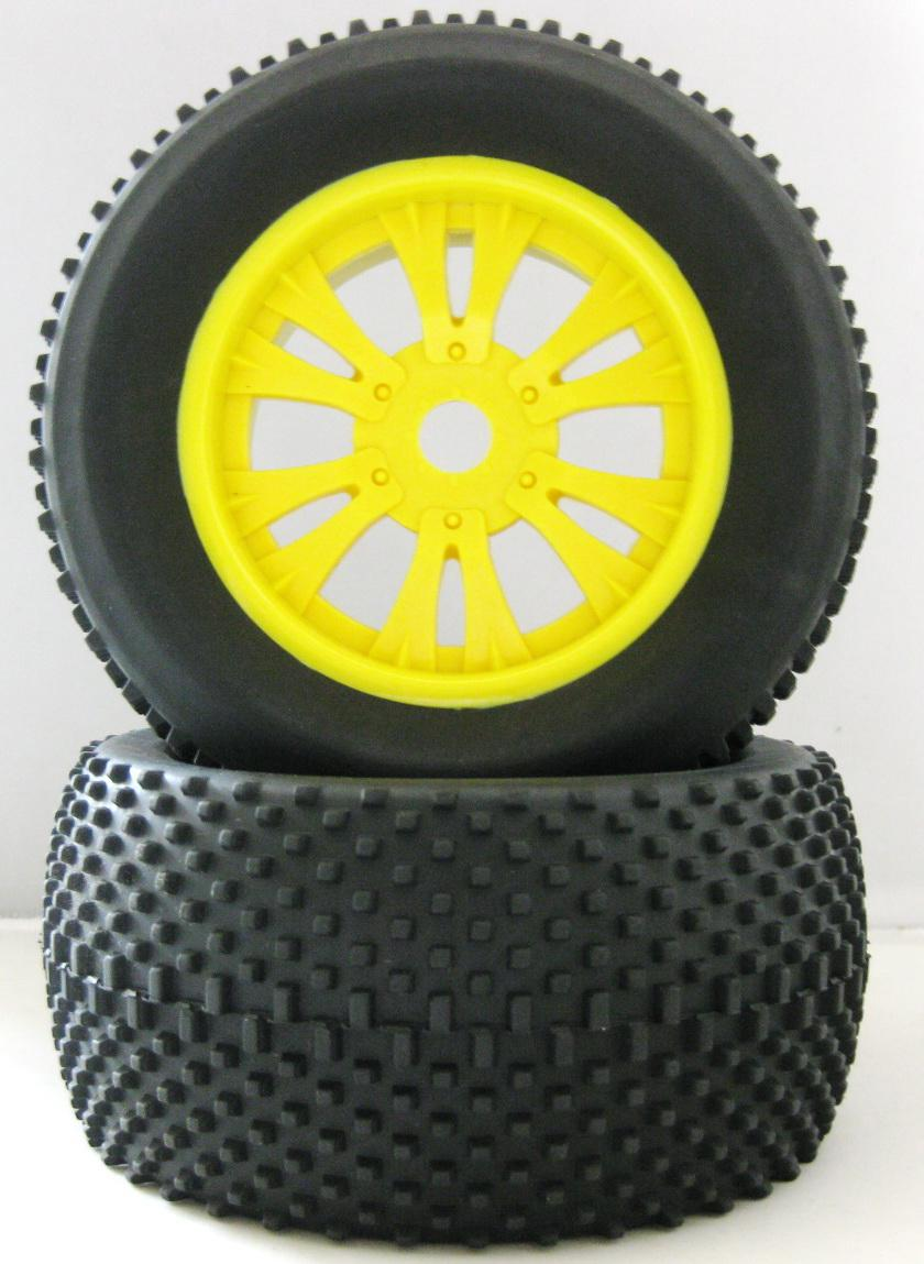 4pcs/lot RC Rubber Sponge Tires Tyre Rim Wheel For 1/8 HSP Baja Tyranno Off Road Monster RC Truck 810019(China (Mainland))