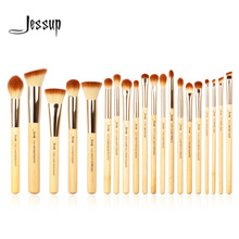 Jessup Brand 20pcs Beauty Bamboo Professional Makeup Brushes Set Make up Brush Tools kit Foundation Powder Blushes Eye Shader(China (Mainland))