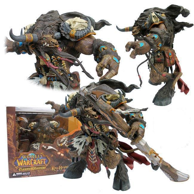 WOW World of WAR 3 Movie TWO WORLD ONE HOME Game Alliance&Horde Tauren Hunter TM Blackstone Warchief PVC Action Figures Toys(China (Mainland))