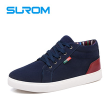 Buy SUROM Mens Canvas Shoes Casual Fashion Men 2017 Spring New Lace Mens Krasovki Height Increasing Male Shoes Chaussure Homme for $25.34 in AliExpress store