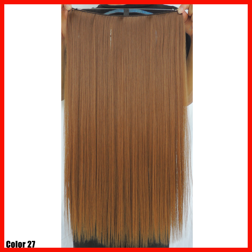 22inch golden brown hair extensions hairpiece synthetic weave flip in hair extension women straight cheveux extensiones de pelo(China (Mainland))