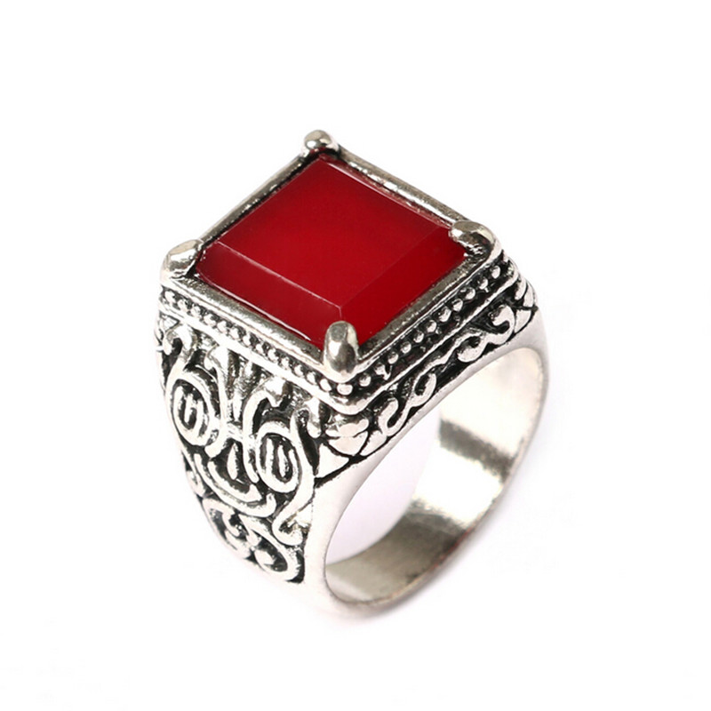 Vintage punk ethnic style totem men rings fashion antique Vintage style fashion rings