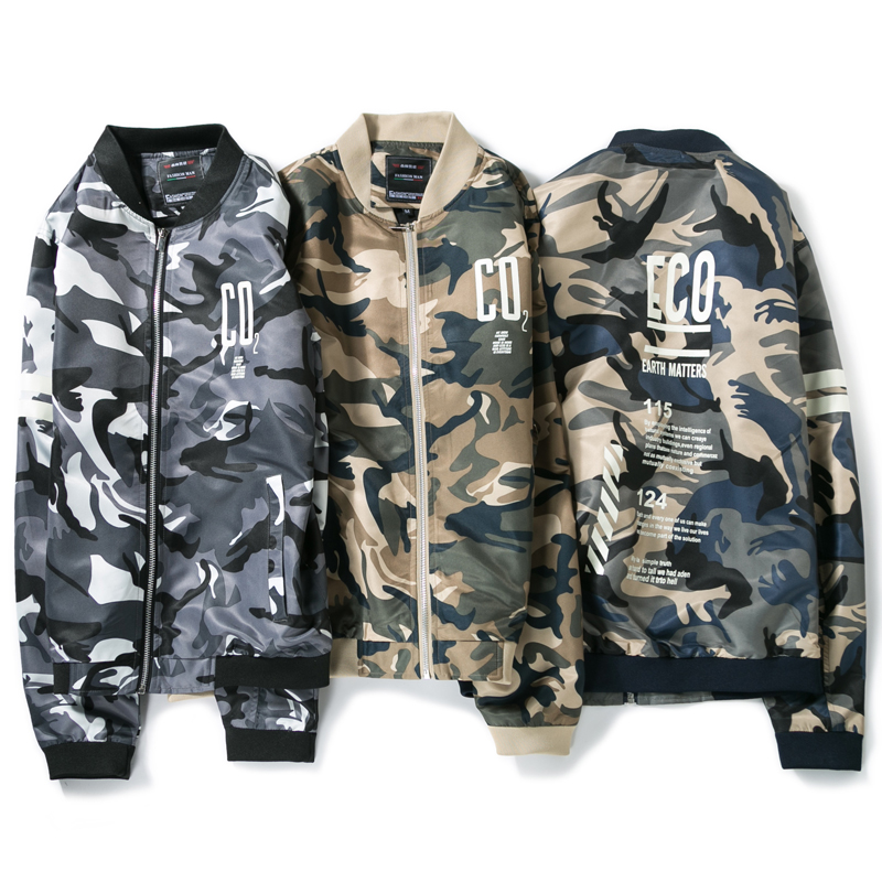 New Spring Casual Spliced cotton Mens Clothing Army Jacket male Camouflage Jackets Coats Military Camo Jacket Young men M-4XL(China (Mainland))