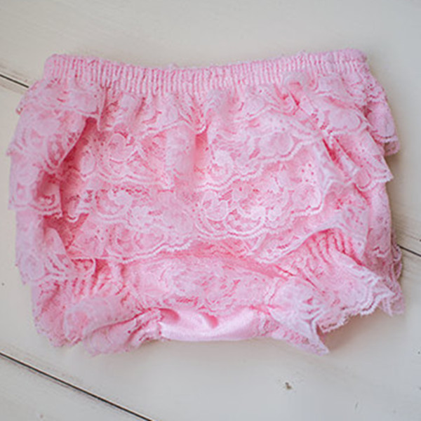 Cute Baby Pink Lace Bloomer Cake Smash Diaper Cover - Photo Baby Toddler Child Girls Photo Prop First Birthday(China (Mainland))