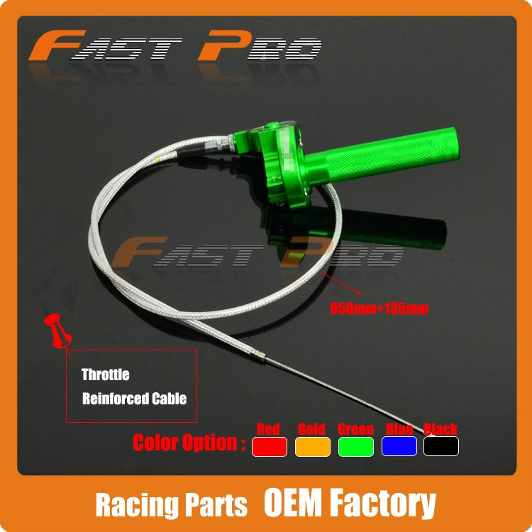 Здесь можно купить  Green CNC Twister Throttle Assembly + Cable for Atomic Pitpro Pitster Pro SDG DHZ SSR Piranha Dirt Pit Bike Motorcycle   Автомобили и Мотоциклы