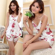 Мода Женская Сексуальность Пижамы Установить Блузка Рубашка + Шорты Нижнее Белье Пижамы 2 Шт.(China (Mainland))