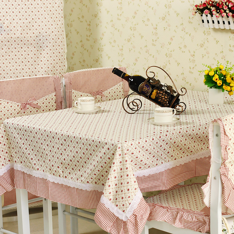 Rustic table cloth fabric dining table cloth coffee table cloth tablecloth dining table chair cover perfume lily