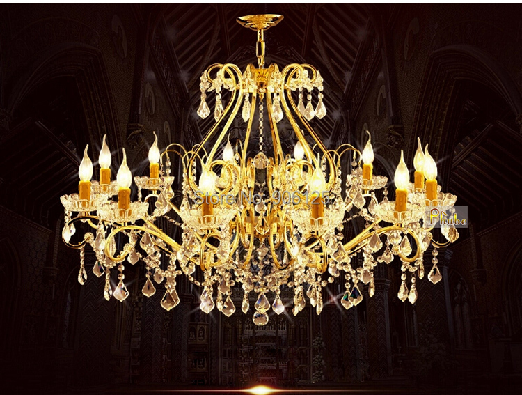 French Gold Crystal Pendant Light Unique Pachira Crystal Pendant Lighting Lighting Guaranteed 100%+Free shipping!(China (Mainland))