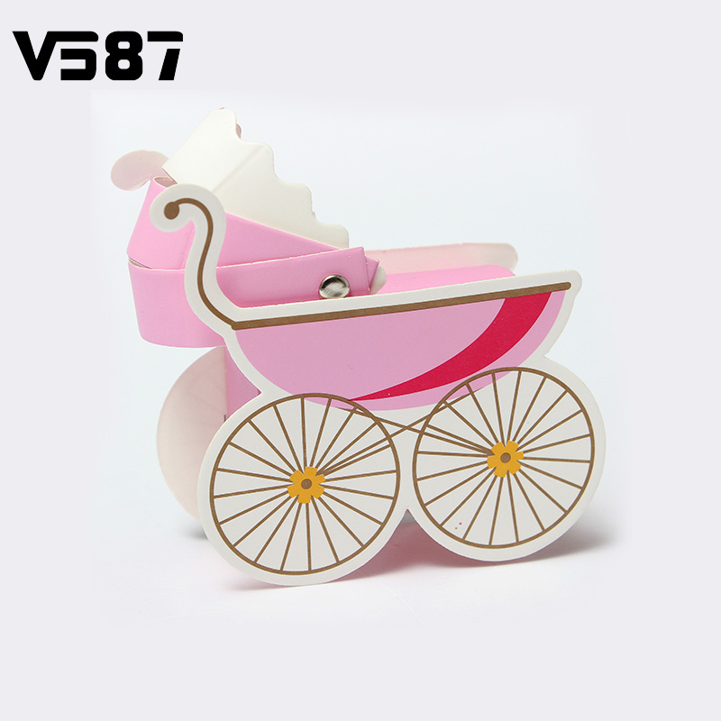 Wedding Candy Box Stroller Shape Party Wedding Baby Shower Favor Paper Gift Boxes Event & Party Supplies 10Pcs Wholesale(China (Mainland))