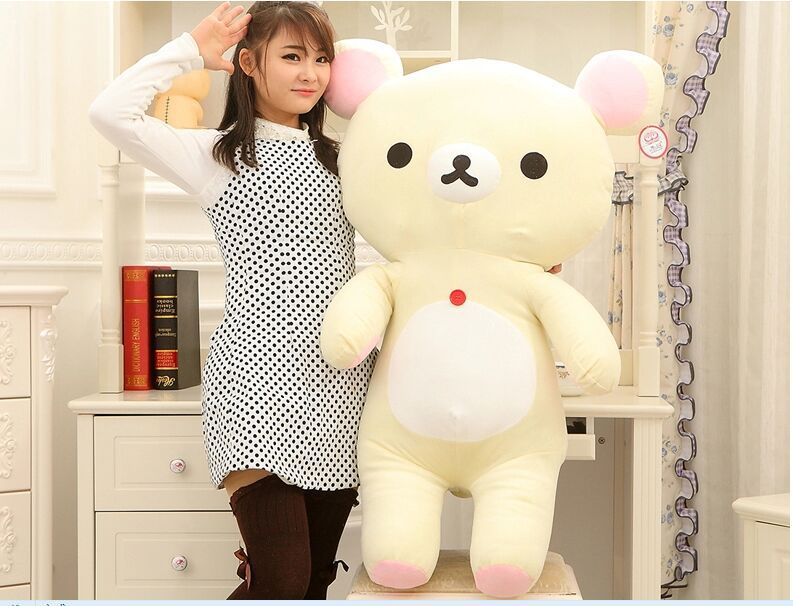 big lovely plush happy bear toy creative white easily bear doll bear toy gift about 110cm<br><br>Aliexpress