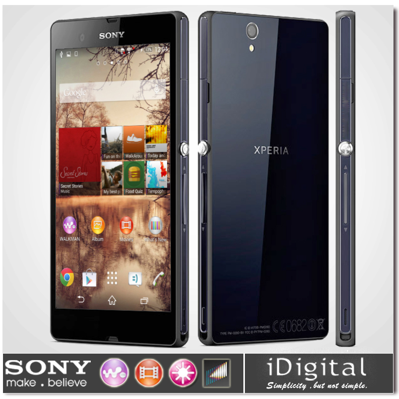 "Original Unlocked Sony Xperia Z L36H C6603 Mobile Phone 5.0"" IPS HD Quad-Core 2G RAM 16GB ROM 13.1MP NFC GPS 3G WCDMA Smartphone(China (Mainland))"