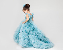 2017 Newest Pretty Flower Girls Dresses Ruched Tiered Girl Dresses for Wedding Party Gowns Plus Size Pageant Dresses Sweep Train(China (Mainland))