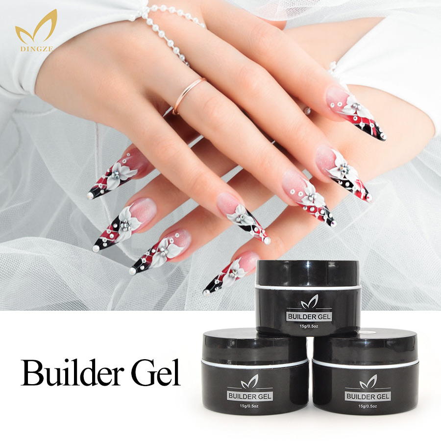 MONASI Builder Gel High Reputation 15ML Transparent Clear Pink Nude Fashion Colors Camouflage UV Gel Builder Extending Nail Gel(China (Mainland))